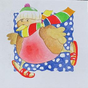 Snow Robin, 2005 (w/c on paper)