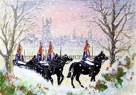 The Household Cavalry, 2005 (w/c on paper)