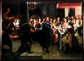 Dice Offering a Banquet to Francus, in the Presence of Hyante and Climene