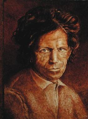 Keith Richards (b.1943) (oil glazes on cracked gesso on canvas laid on board)