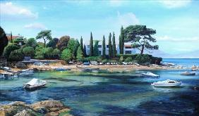 Villa and Boats, South of France