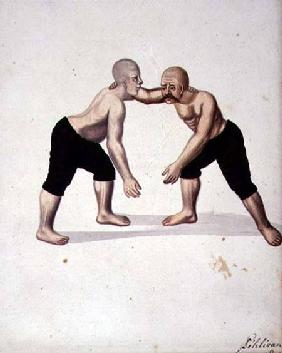 Two Wrestlers, Ottoman period