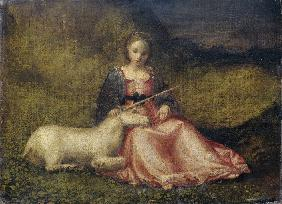 Woman with Unicorn