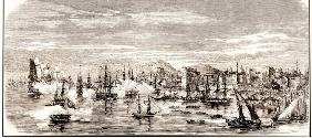 The Battle of Sinop on 30 November 1853