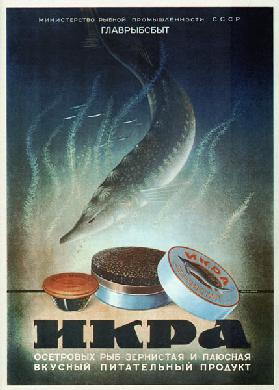 Advertising Poster for the Sturgeon caviar