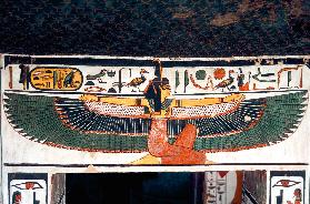 Ancient Egyptian goddess Ma'at, tomb of Queen Nefertari