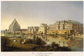 "The Palaces of Nimrud Restored (From ""Discoveries in the Ruins of Nineveh and Babylon"" by Austen Hen"