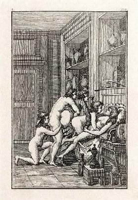 Illustration for the novels by Marquis de Sade