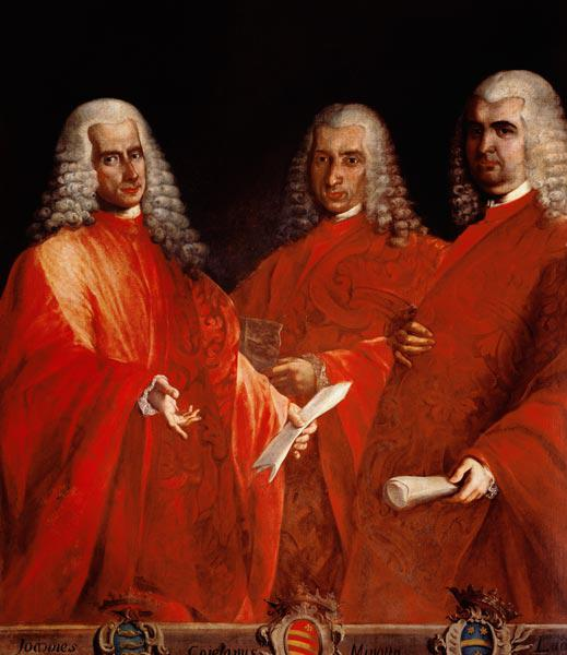 Portrait of Three Lawyers, Giovanni Dolfin, Gaetano Minotto and Lodovico Angarano