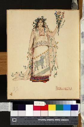 "Spring Beauty. Costume design for the opera ""Snow Maiden"" by N. Rimsky-Korsakov"