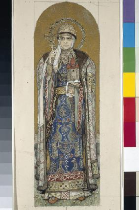 Saint Olga, Princess of Kiev (Study for frescos in the St Vladimir's Cathedral of Kiev)