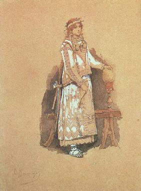 "Costume design for the opera ""Snow Maiden"" by N. Rimsky-Korsakov"