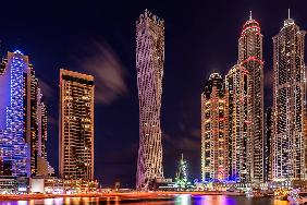 Dubai Marina Night Shot