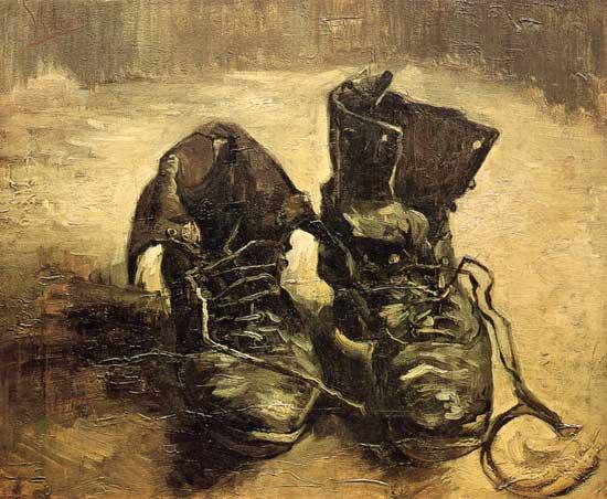 Olio Di Tela Vincent Gogh Riproduzione Scarpe Van Lacci Su Con aXUXqZE