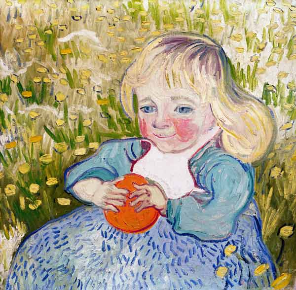 Child with an orange vincent van gogh for Ciao bambini van gogh