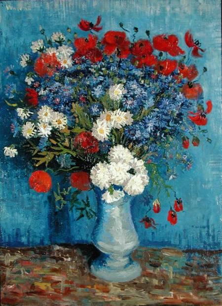 Mazzo Di Fiori Van Gogh.Vaso Di Fiori Con Fiordalisi E Papaveri Olio Su Tela Di Vincent