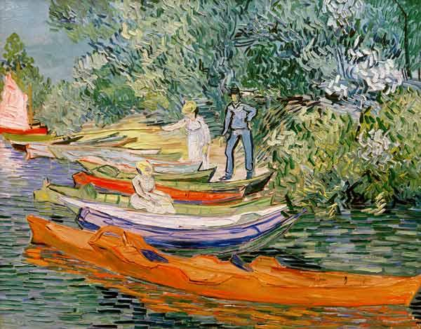 On the shore of the Oise in Auvers