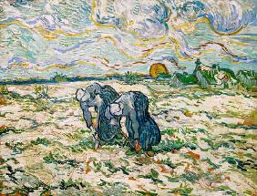 V.van Gogh, Peasant Women Digging/Paint.
