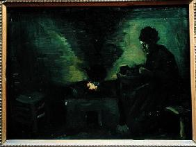 Peasant Woman by the Hearth