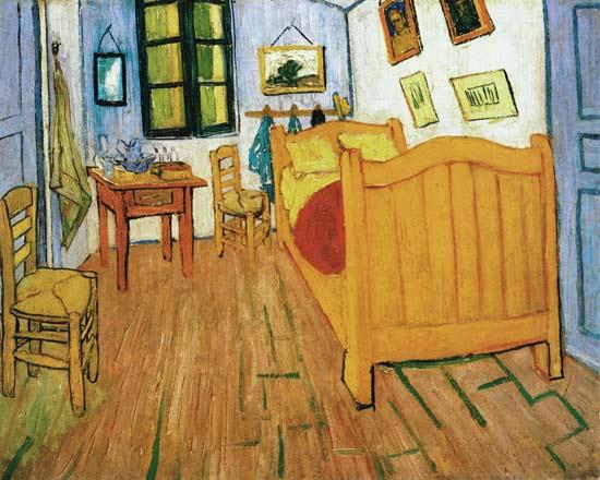 La camera da letto di Vincent Van Gogh - Olio su tela di Vincent van ...