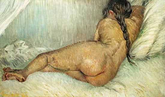 donna sdraiata sul letto van gog