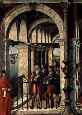 The Arrival of the English Ambassadors, detail, from the St. Ursula cycle