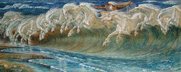 i cavalli di Nettuno - quadro di Walter Crane