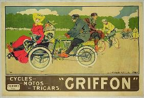 Poster advertising ''Griffon Cycles, Motos & Tricars''