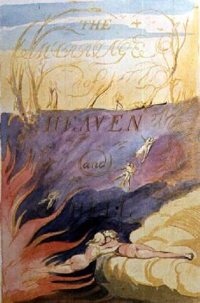 The Marriage of Heaven and Hell; title-page
