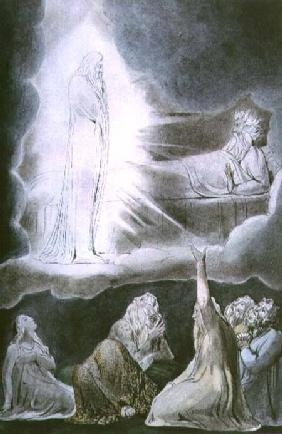 The Vision of Eliphaz, 1825 (pen, w/c and