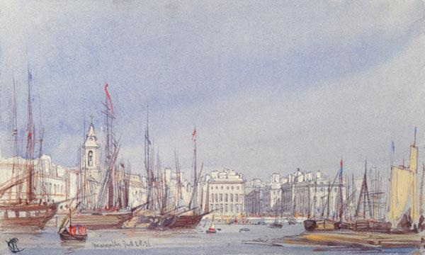 Marseilles, Shipping in the Inner Harbour, 28th July 1836