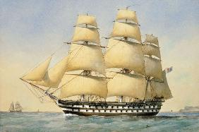 HMS Bellerophon off the Coast