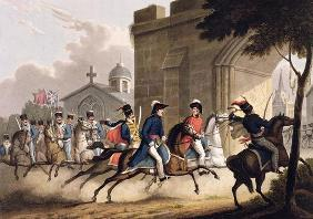 Entrance of Lord Wellington into Salamanca at the head of a Regiment of Hussars, May 20th 1813, from
