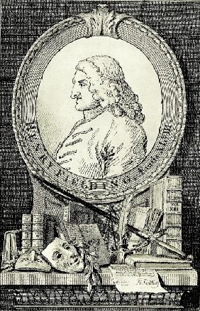 Portrait of the novelist and playwright Henry Fielding (1707-1754)