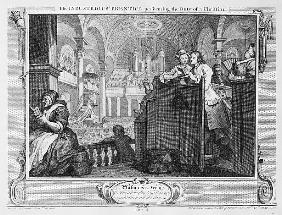 The Industrious ''Prentice Performing the Duty of a Christian, plate II of ''Industry and Idleness''