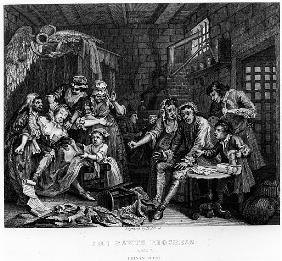 The Rake in Prison, plate VII, from ''A Rake''s Progress''