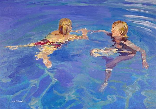 Afloat, 2005 (oil on board)