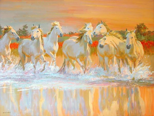 Camargue (oil on board)