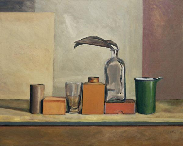 Still Life with Passion Pods (oil on canvas)