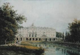 View of the Great Palace of Strelna near St. Petersburg